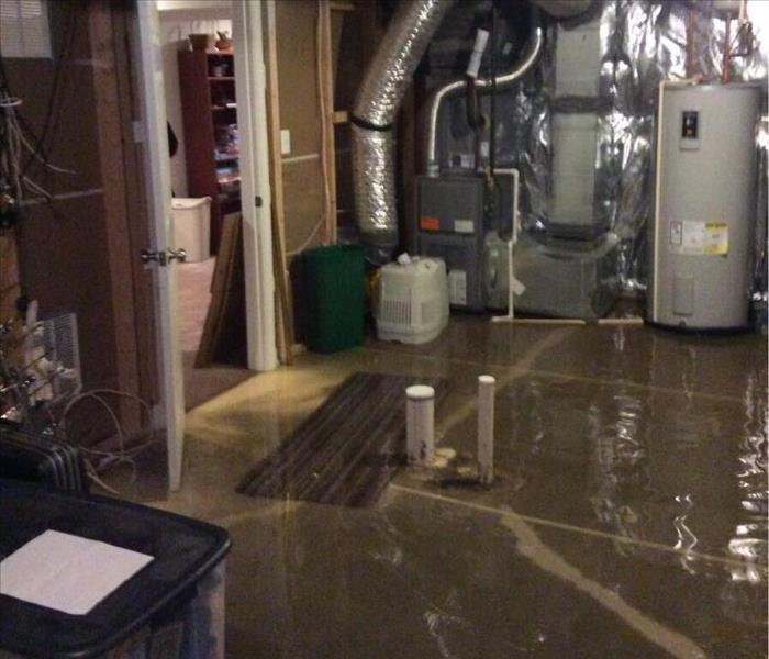 Flooded Basement In Commercial Property: Flooded Basement Cleanup
