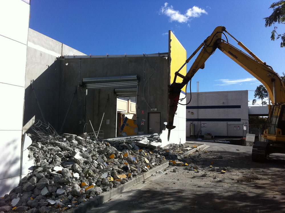 Demolition of building due to the need for Mold Removal