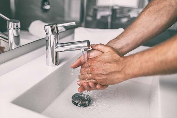 Washing hands to prevent Coronavirus