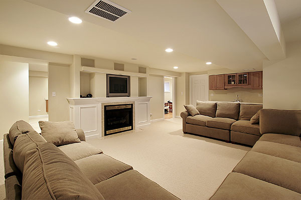 nicely finished basement